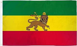 SUPERDAVES SUPERSTORE 3x5 Ethiopia Flag Lion of Judah Ethiopian Pennant Indoor Outdoor Rastafari