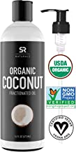 Organic Liquid Coconut Oil for Skin, Massage & Aromatherapy ~ 100% Organic Certified & Non-GMO Verified Fractionated Cocon...
