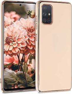 kwmobile telefoonhoesje compatibel met Samsung Galaxy A71 - Hoesje voor smartphone in roségoud