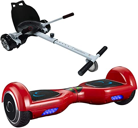 smartGyro X1s Red + Go Kart Pack Hoverboard - (Ruedas 6,5 ...