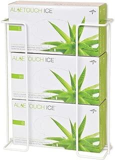 Medline Wire Glove Dispenser Box Holder, Triple, White, Pack of 2