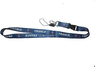 France FFF Logo Fifa World CUP Lanyard Keychain Passholder .. 24 Inches Long.. New