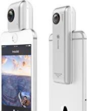 Insta360 Nano 360 Degree Camera VR 3D Panoramic Point and Shoot Digital Video Cameras 3K HD Dual Wide Angle Fisheye Lens for iPhone 7, 7 Plus and all iPhone 6 series, 360 Live on Facebook- Pearl White
