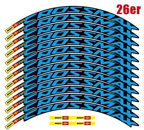 Decoración de la Motocicleta MTB Etiqueta engomada de la Rueda Ancho 18mm Pro Calcomanías de la Rueda de la Bicicleta Pegatinas de Bicicleta para Dos Ruedas calcomanías MTB Rim Pegatinas