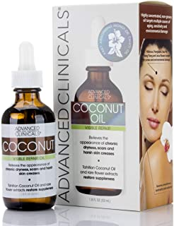 Advanced Clinicals Coconut Oil For Skin Repair Coconut Oil For Face Body And Hair For Chronic Dryness Scars Stretch Marks ...