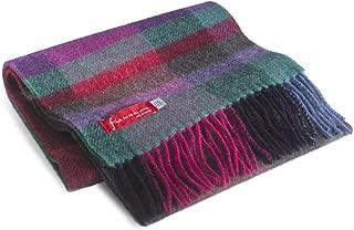 "FIA Soft and Warm Irish Wool Plaid Scarf for Men, 9"" Wide X 78"" Long"