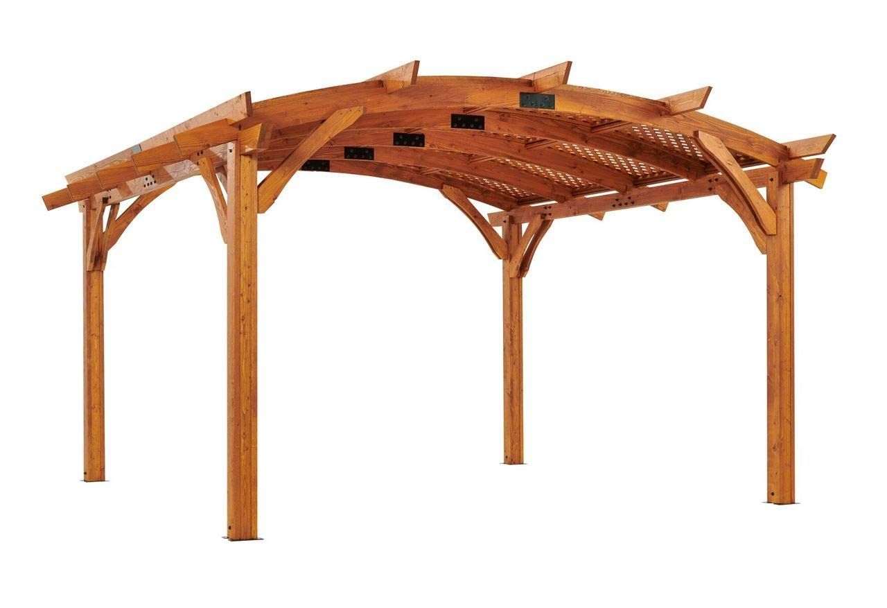 The Outdoor GreatRoom Company Pérgola de Madera arqueada de 16 ...