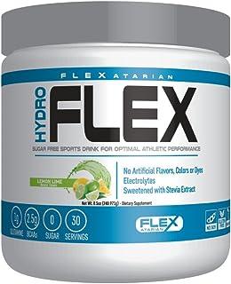 Flexatarian Hydro Flex, Natural Hydration Powder with BCAAs, Lemon Lime, 30 Servings