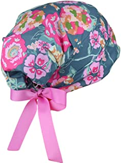 Scrub Hats // Scrub Caps // Scrub Hats for Women // The Hat Cottage // SMALL // Ribbon Ties // Trellis Roses