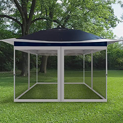 Curtain Style Canopy Screen Netting Walls Only with 4 Side Zipper for Universal 10x10 Pop Up Canopy Tent or Gazebo (Fit Our 12X12 Overhang style Outdoor Gazebo), Grey