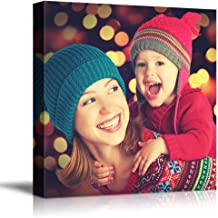 NWT Custom Canvas Prints with Your Photos for Family, Personalized Canvas Pictures for Wall to Print Framed 12x12 inches