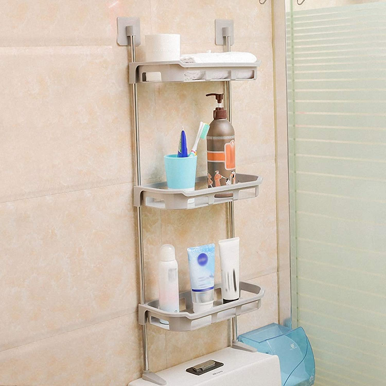 Dceer Bathroom Shelves, Bathroom Multi-Layer Kitchen Paste Storage Rack (color   Three Layers)