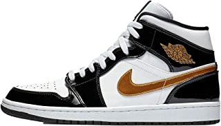 jordan 1 mid black gold