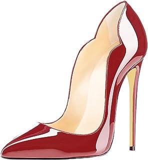 EDEFS - Scarpe col Tacco Donna - 120mm Tacchi Alti - Scarpe col Tacco - Tacco a Spillo - Scarpe da Donna