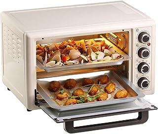 L.TSA Cocina Horno eléctrico Hornear en casa Horno de Pastel pequeño automático multifunción 32 litros de Gran Capacidad, Cuatro perillas Control de Temperatura Independiente, calefacción de cuatr