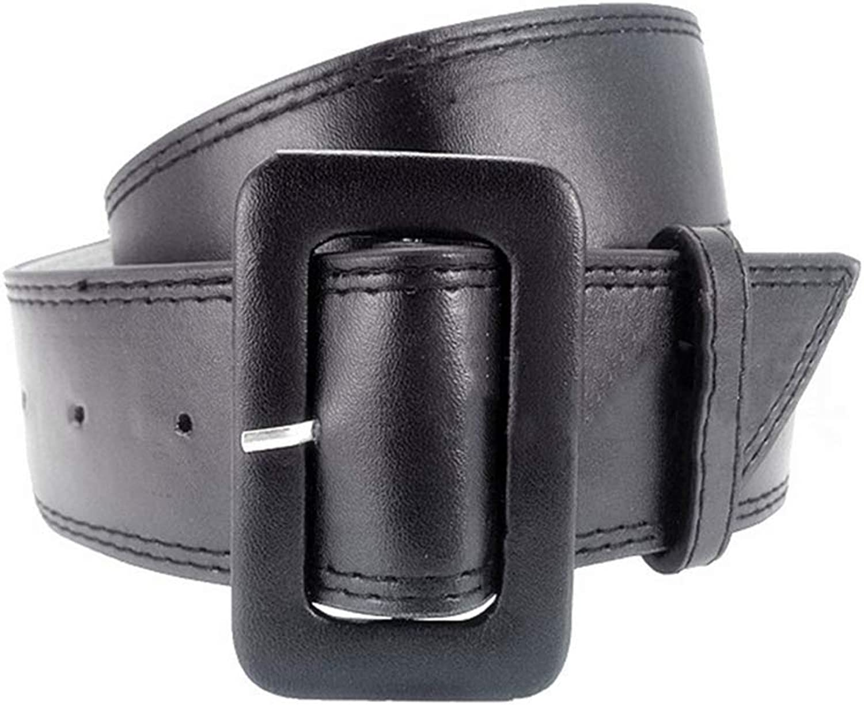 Canvas Belt Women's Leather Wide Belt Simple Coat Decoration (color   Black)