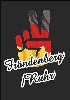 Indigos UG - Stickers - Autosticker - Sticker - Duitsland - Stad Fröndenberg/Ruhr - Victory - Overwinning - achterruit, ko...