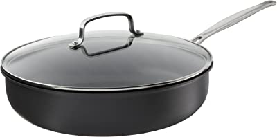 """Cuisinart Deep Fry Pan with Cover, 12"""", Anodized Black"""