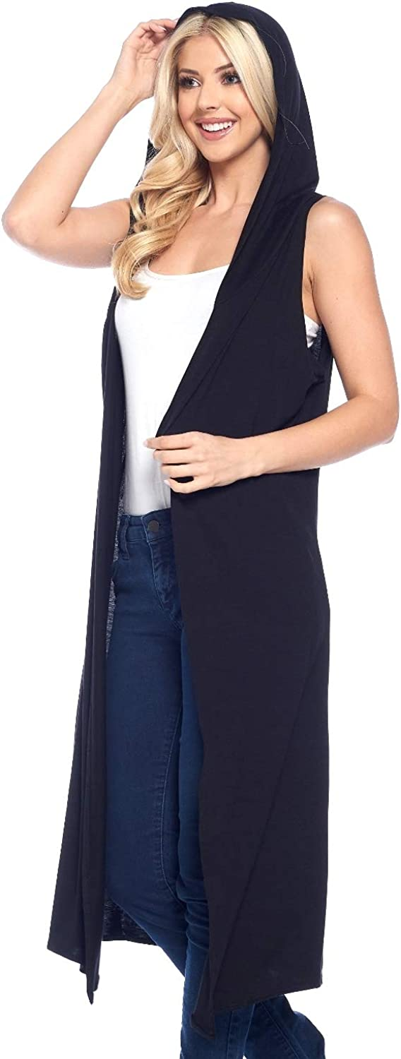 Isaac Liev Women's Sleeveless Vest Open Hood – Front Max 58% Fees free!! OFF Casual