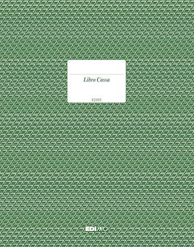 EDIPRO - E2593 - Libro cassa 96 pagine f.to 31x24,5