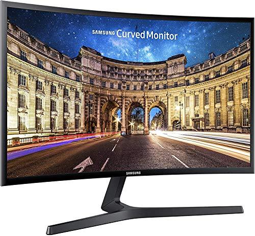 Samsung C24F396 Monitor Curvo, 24 Pollici, Full HD, FHD, 1920 x 1080, 4 ms, 16:9, 60 Hz, 1080p, 1800R, AMD FreeSync, HDMI, Base a Doppio Snodo, Nero (Ricondizionato)