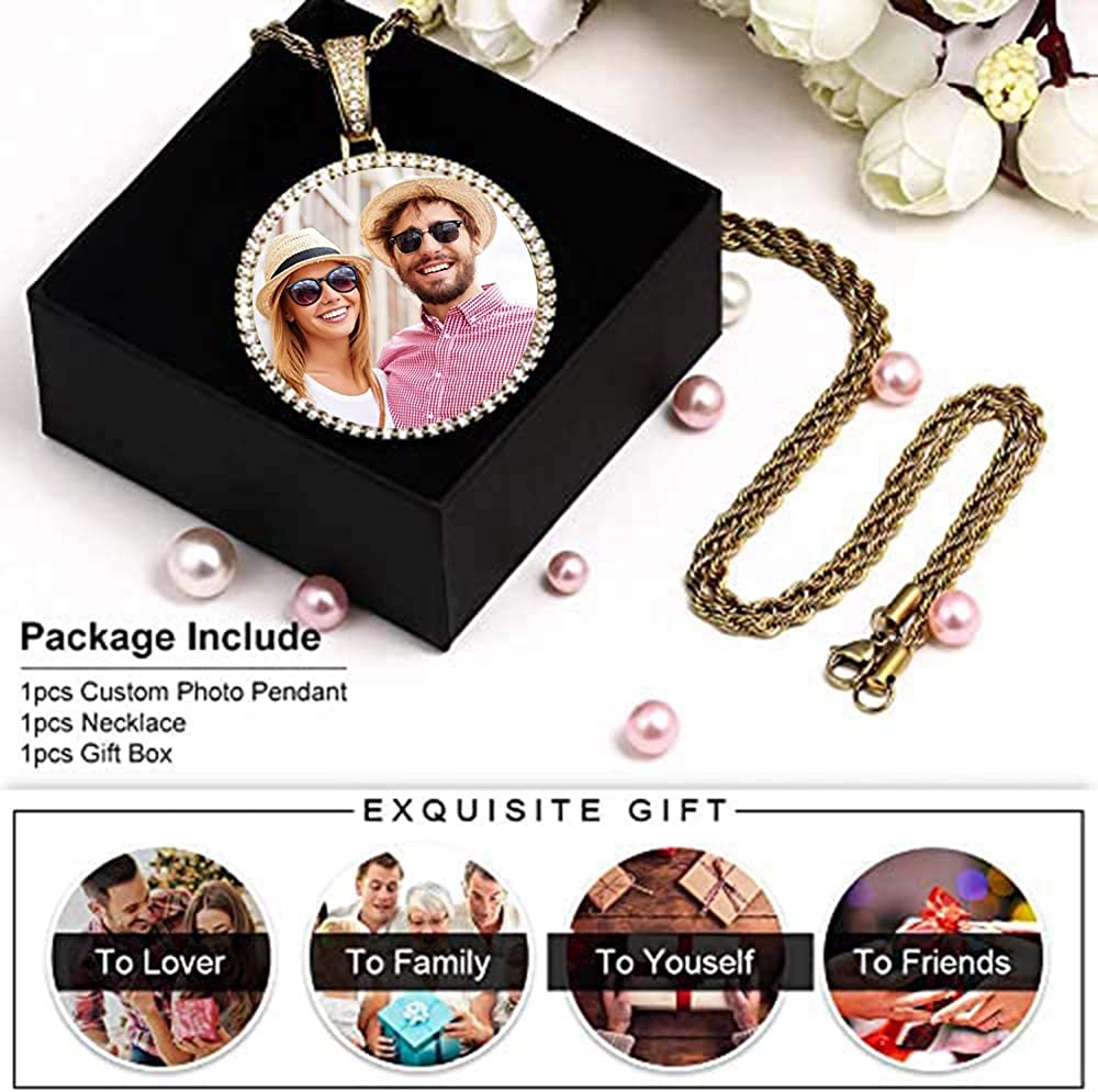 A Man and a Woman Watching Each Other Lying on the Bed Portrait Necklaces for Grandparent Picture Necklace Pendant Men
