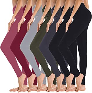 High Waisted Leggings for Women - Opaque Slim Tummy Control Pants for Yoga Workout Cycling Running