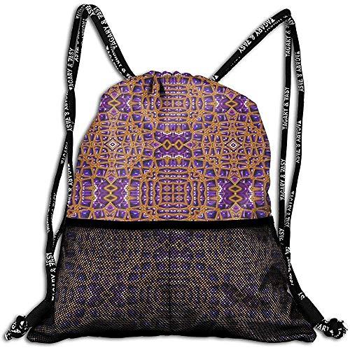 shenhaimojing Anthrazit Turnbeutel Fliesen Hintergrundbild Dekorative Struktur Kordelzug Rucksack Front Zipper Mesh Bag Unisex Für Reise Fitness