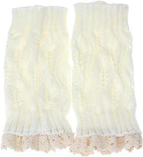 Calcetines, Manera Mujeres de señora Lace Trim Caliente del Ganchillo de Punto de Arranque puños los Primeros de la Pierna Calcetines