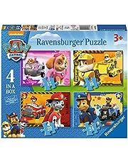 Ravensburger Paw Patrol – 4 tum låda (12, 16, 20, 24 stycken) pussel för barn från 3 år och uppåt