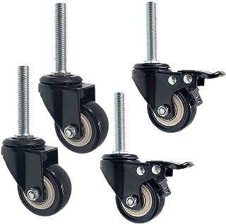 Zwenkwiel met 50 mm zwenkwiel met M10times; 100 mm draadsteel, vervangende zwenkwielen voor werkbank, polyurethaan wielen ...
