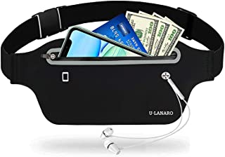 Slim Running Pouch Belt Fany Pack,Workout Waist Bag for...