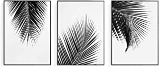 Crescent Art 2019 Trendy Framed Modern Abstract Elegant Black and White Palm Tree Leaves Giclee Canvas Prints Wall Art Picture Living Room Bedroom Home Decorations Print On Canvas Artwork Wall Decor