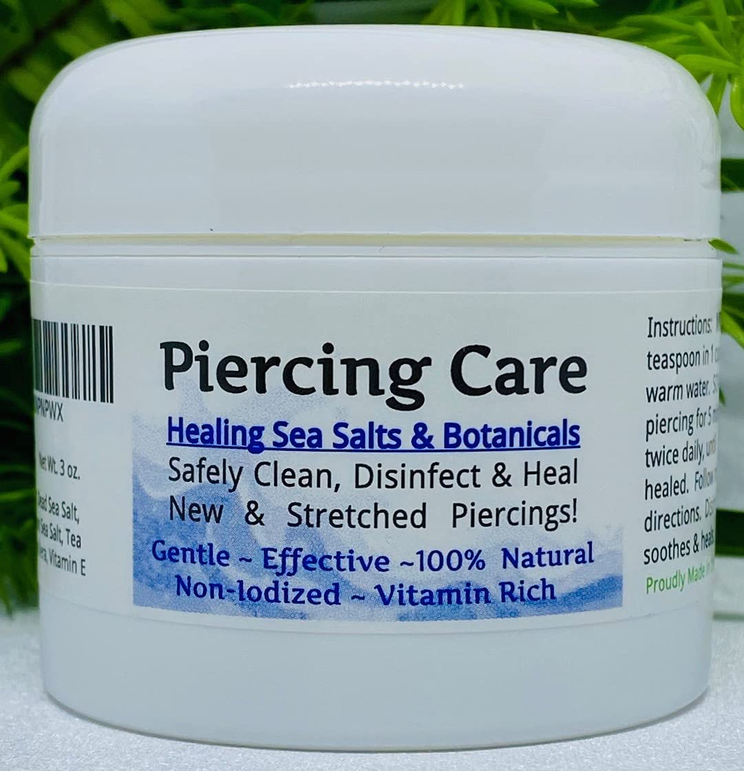 Urban ReLeaf shopping NEW before selling Piercing Care Healing Botanical Salts Sea AFTER