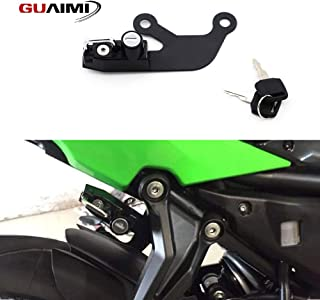 GUAIMI Motorcycle Anti-theft Helmet Lock with keys for Kawasaki Ninja 650 2017-2019 Kawasaki Z 650 2017-2019-Black