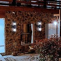 暖かい白い壁ランプ、屋外の壁のライト、高架式テーブル傘パティオ裏庭デッキガーデンテント用の安全保証アルミニウム(gray, Zhengbai)