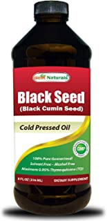 Best Naturals Black Seed Oil 8 OZ - Cold Pressed Black Cumin Seed Oil from 100% Genuine Nigella Sativa