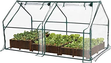 "TOOCA Mini Greenhouse for Raised Garden Bed, 71"" X36"" X36"", Portable Plant Greenhouse for Indoor Outdoor Gardens/Patios/Backyards, Suitable for Growing Seeds, Young Plants (Not Included Garden Bed)"