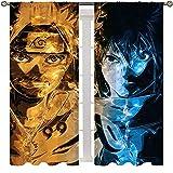 Cortinas de dibujos animados para niñas con bolsillo para varilla, anime Naruto...