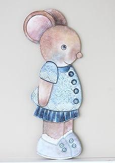 Medida ancho//alto para decoraci/ón de pared en DM para pintar : 35 * 55 cm. Silueta ratoncito tama/ño grande