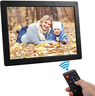 Digital Photo Frame, 15-inch HD High Resolution LCD can Wall-Mountable, MP3 / MP4 Player Electronic Picture Frame with 16G...