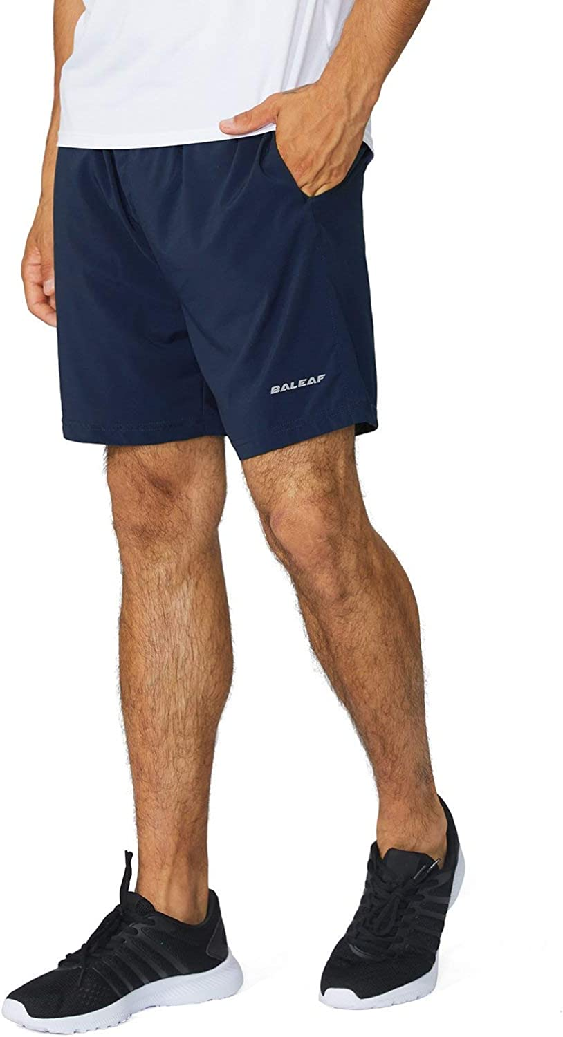 BALEAF Men's Spring new work one after another 5 Attention brand Inches Running Athletic Shorts L Pocket Zipper No