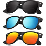 Unisex Polarized Sunglasses Stylish Sun Glasses for Men and Women Color Mirror Lens Multi Pack...