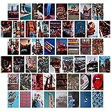 Vinilos Pared, 50 Piezas Kit de Posters para Pared, Fotos Pared Decoracion, Fotos Decoracion Habitacion Aesthetic, Conjunto Imágenes Pared, para Decoración Habitación Dormitorio Conjuntos Fotos Pared