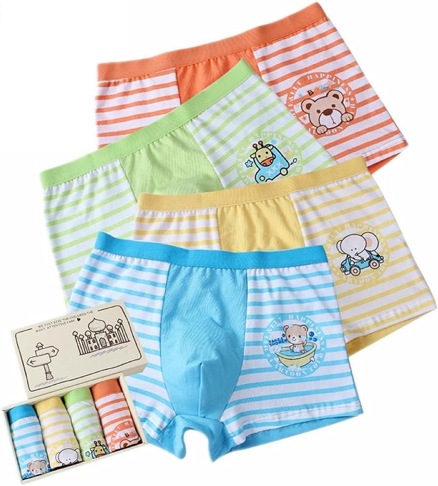 Boys' Boxer Briefs Animal Short Underwear Comfort Boxers Pack of 4