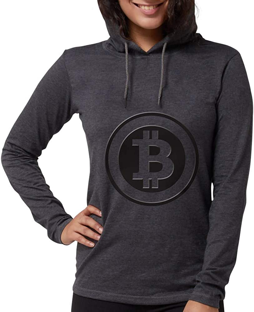 CafePress Bitcoin Genuine Free Shipping Long Sleeve Shirt Fort Worth Mall Womens Hooded T