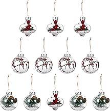 Hemobllo 12pcs Transparent Christmas Tree Ball Clear Fillable Ball Plastic Ball Ornaments for Christmas Tree Decorations B...