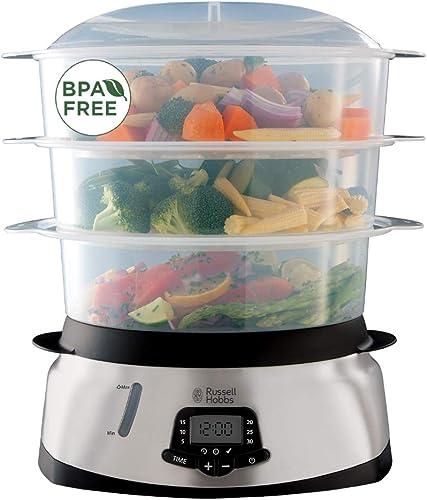 Russell Hobbs Cuiseur Vapeur 10,5L, Digital, Programmable, Cuisson Légumes, Riz, Œufs, Compatible Lave-Vaisselle - 23...