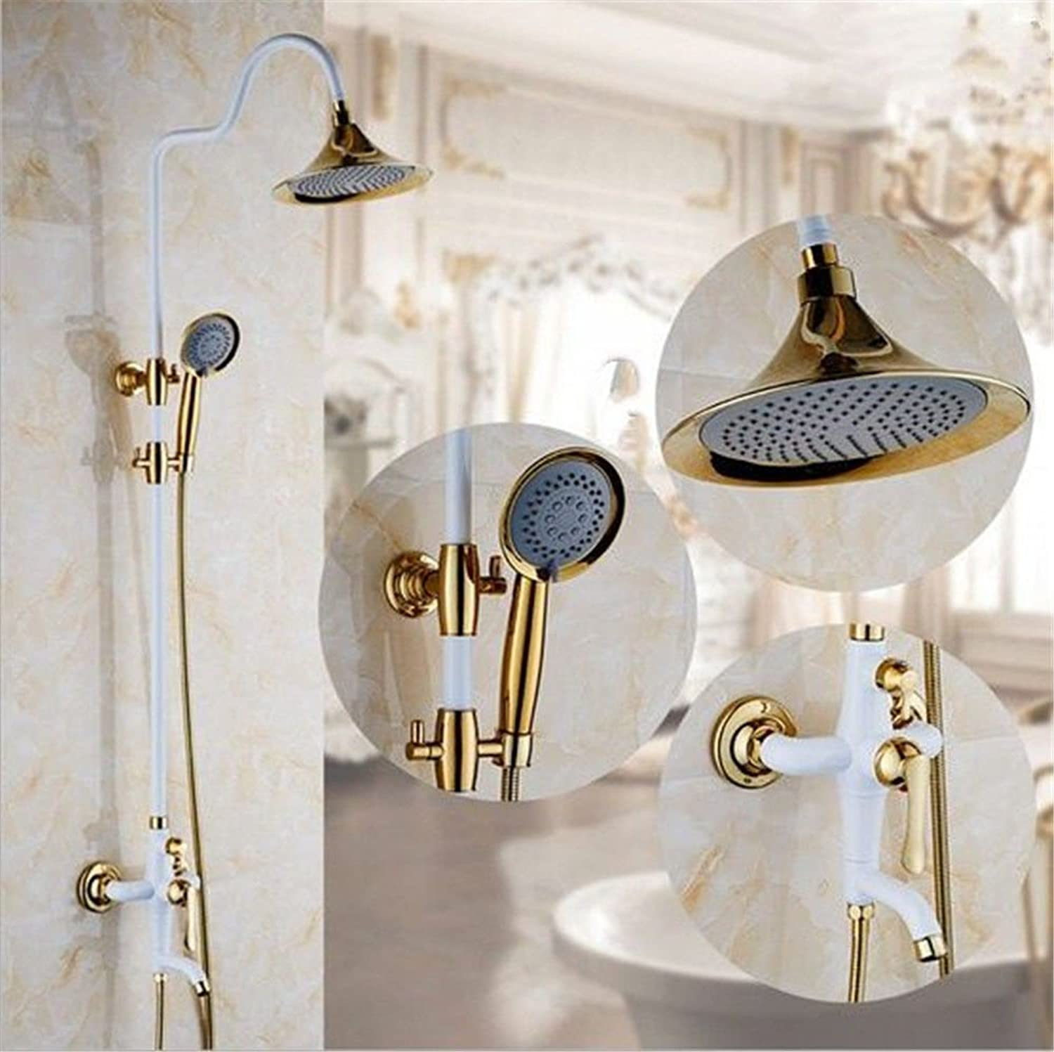 S.Twl.E Sink Mixer Tap Faucet Bathroom Kitchen Basin Tap Leakproof Save Water Shower Shower Set Into Wall Pressure Lifts Sprinklers Full Copper Shower Set