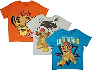 Disney Little Boys' Toddler Lion Guard 3 Pack T-Shirts